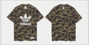 Adidas ×A Bathing Ape Tシャツ 画像