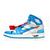ジョーダン × OFF-WHITE RETRO HIGH POWDER BLUE オフホワイト / AQ0818-148 画像